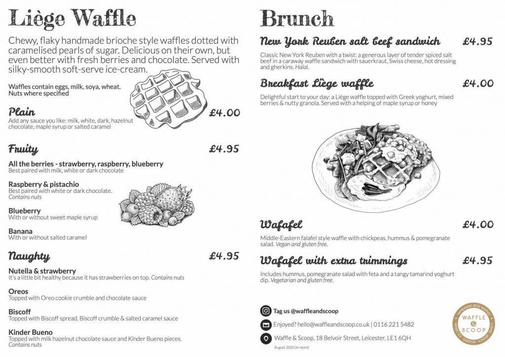 Waffle & Scoop Menu December 2020 - Food