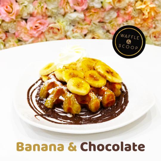 Banana & Chocolate Liege waffle