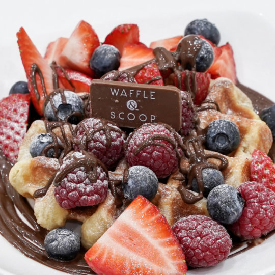 All the berries Liege Waffle at Waffle & Scoop