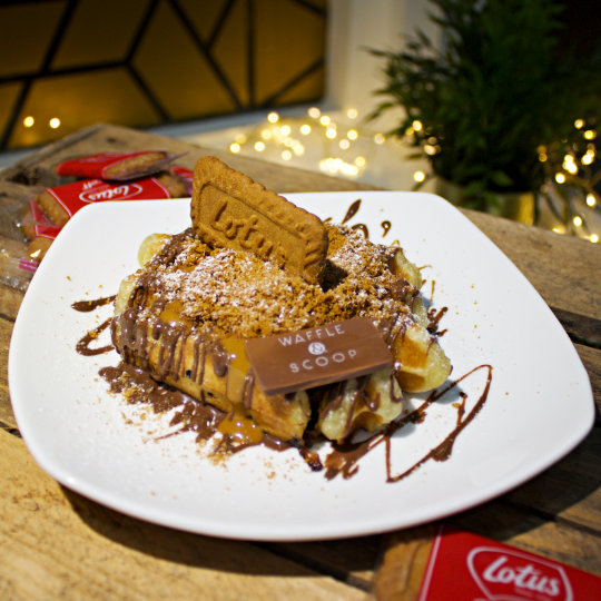 Biscoff Liege Waffle at Waffle & Scoop
